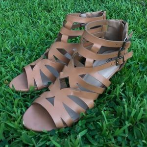 Worn once wedge sandals